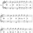 Bring a Torch Jeanette Isabella Easiest Piano Sheet Music