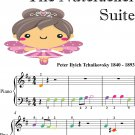 Clara and the Nutcracker the Nutcracker Suite Beginner Piano Sheet Music with Colored Notes