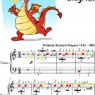 Ride of the Valkyries Easy Piano Sheet Music with Colored Notes
