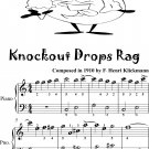 Knockout Drops Rag Easiest Piano Sheet Music for Beginner Pianists