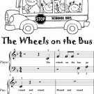 The Wheels on the Bus Beginner Piano Sheet Music