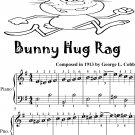 Bunny Hug Rag Easiest Piano Sheet Music for Beginner Pianists