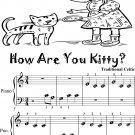How Are You Kitty Beginner Piano Sheet Music