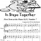 In Steps Together First Term at the Piano Sz53 Number 7 Easiest Piano Sheet Music