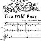To a Wild Rose Beginner Piano Sheet Music