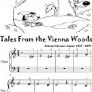 Tales From the Vienna Woods Beginner Piano Sheet Music Tadpole Edition
