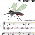 Dragonflies in Sunshine Easiest Piano Sheet Music With Colored Notes
