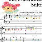 Dance of the Sugar Plum Fairy the Nutcracker Suite Beginner Piano Sheet Music with Colored Notes