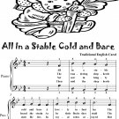 All In a Stable Cold and Bare Easy Piano Sheet Music 2nd Edition