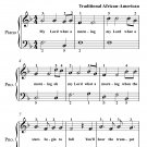 My Lord What a Morning Easy Piano Sheet Music