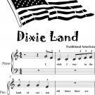 Dixie Land Beginner Piano Sheet Music
