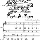 Pat a Pan In G Minor Easy Piano Sheet Music 2nd Edition
