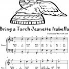 Bring a Torch Jeanette Isabella Easy Piano Sheet Music 2nd Edition