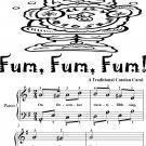 Fum Fum Fum Easy Piano Sheet Music 2nd Edition