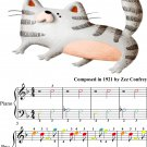 Kitten on the Keys Easiest Piano Sheet Music with Colored Notes