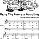 Here We Come a Caroling Easy Piano Sheet Music 2nd Edition