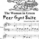 Woman in Green the Peer Gynt Suite Beginner Piano Sheet Music 2nd Edition