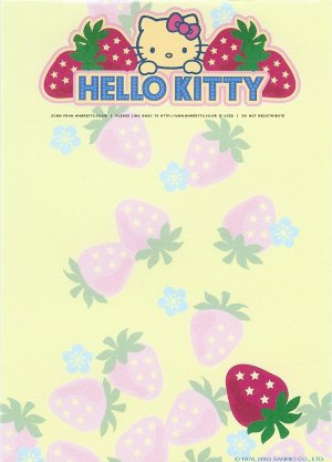 Hello Kitty Scented Strawberry Memo Sheets