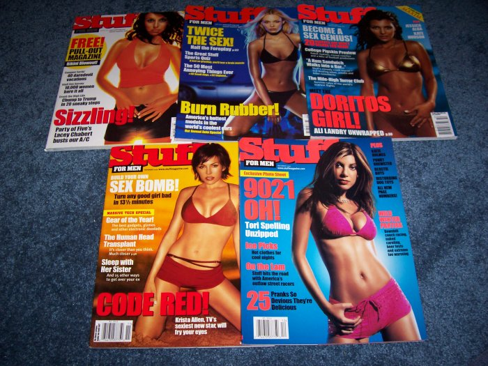 5 issues of Stuff Magazine from August - December of 2000