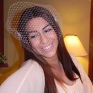 .Gorgeous White Birdcage Veil ,Bride, Flower, Bridal,fascinator