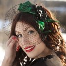 Gorgeous Green and Black Vintage Look Headpiece