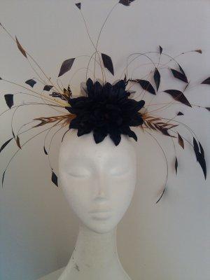 Elegant Black & Yellow Headpiece,Fascinator,Wedding,Races