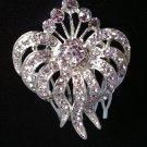 Stunning Silver Rhinestone Comb, bridal headband,fascinator, bridal head piece, rhinestone headband
