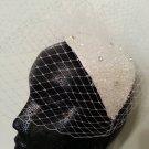 White Birdcage Veil Headpiece Fascinator