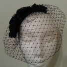 Black Birdcage Veil,Fascinator,Headpiece