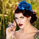 Blue Headpiece Fascinator
