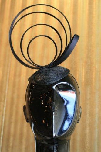 Black Satin Loops Headpiece Fascinator