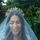 Gold leaf crown,crown, limited edition,fascinator,bridal headpiece