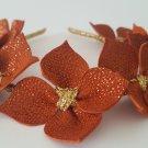 Burnt Orange Leather Crown,Headband