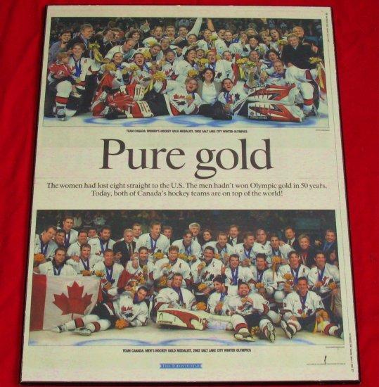Olympics Salt Lake City 2002 Pure Gold- Hockey Team Canada