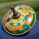 Very rare-Vintage1940's MHZ Made in Germany Tin Toy Top-collectible
