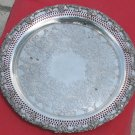 Antique Wm. A. Rogers-Old English Reproduction Silver Tray 6157