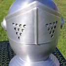 Vintage Knight's Helmet Ice Bucket Bottle Cooler Champagne Aluminum