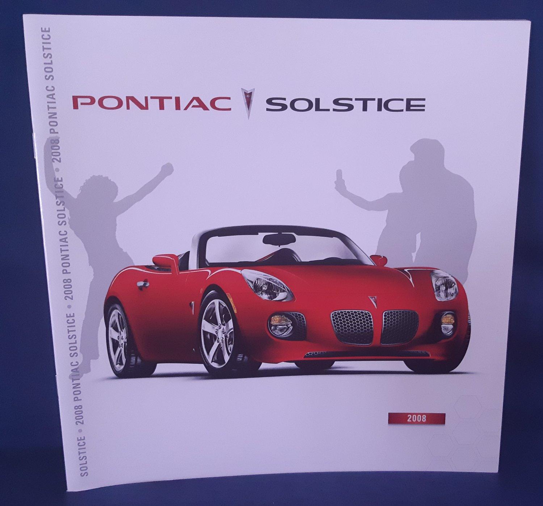 2008 Pontiac Solstice Dealer Promotional Brochure-MINT-Great Collectible