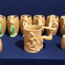 Lady Takes A Dip-9 Piece Coffee Drinking Cups, Salt and Pepper Shakers Set-Made