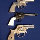Vintage Child's Toy Metal Hand Gun's Pistols-Trooper, Police, KID MKII- Set of 3