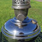 Rare- Antique Aladdin Model 5 Round Wick Nickel Plated Oil Lamp-Very collectible