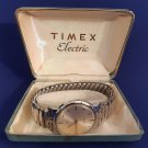 Vintage Timex Electric c1963 Wrist Watch Water Resistant-Original Case w/Receipt