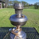 Aladdin Model 9 Nickel Plated Oil Lamp Electrified Table Lamp