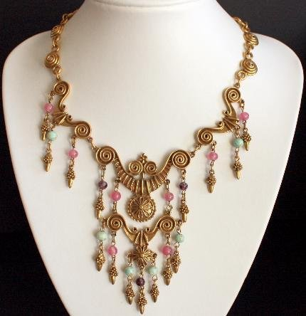 Vintage Victorian Revival Statement Necklace