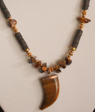 Vintage Southwestern Agate Stone Necklace/Pendant
