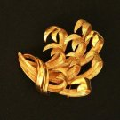 Vintage Signed Lisner Golden Leaf Brooch/Pin