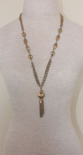 Vintage Multi Chain Lariat Necklace