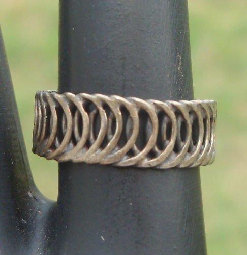 Unique Vintage Dark Tone Metal Ring Size 6 1/2