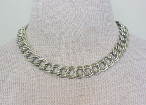 Vintage Coro Silver Chunky Chain  Necklace