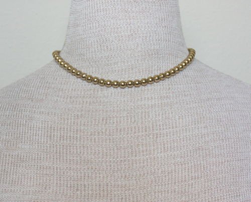 Vintage Monet  Gold Beads Choker Necklace